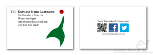 Business cards, 2013